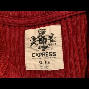 Men's express sweater in red
